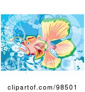 Royalty Free RF Clipart Illustration Of A Deep Sea Fish 1 by mayawizard101