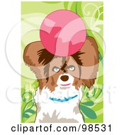 Royalty Free RF Clipart Illustration Of A Dog Fetching A Ball 4