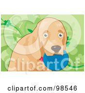 Royalty Free RF Clipart Illustration Of A Ball Fetching Dog 6