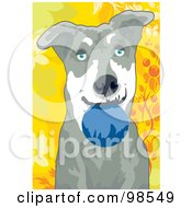 Royalty Free RF Clipart Illustration Of A Ball Fetching Dog 4