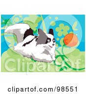 Royalty Free RF Clipart Illustration Of A Ball Fetching Dog 3