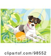 Royalty Free RF Clipart Illustration Of A Ball Fetching Dog 2
