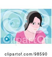 Royalty Free RF Clipart Illustration Of A Woman Listening To Music 13