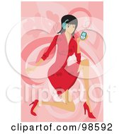 Royalty Free RF Clipart Illustration Of A Woman Listening To Music 19