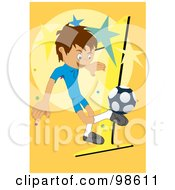 Royalty Free RF Clipart Illustration Of A Soccer Boy 2 by mayawizard101