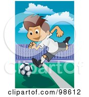 Royalty Free RF Clipart Illustration Of A Soccer Boy 11 by mayawizard101