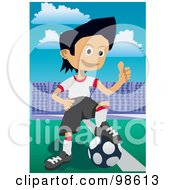 Royalty Free RF Clipart Illustration Of A Soccer Boy 12 by mayawizard101