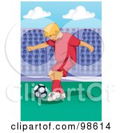 Royalty Free RF Clipart Illustration Of A Soccer Boy 16 by mayawizard101