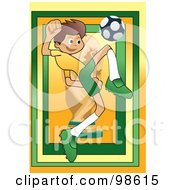 Royalty Free RF Clipart Illustration Of A Soccer Boy 15 by mayawizard101