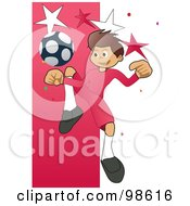 Royalty Free RF Clipart Illustration Of A Soccer Boy 14 by mayawizard101