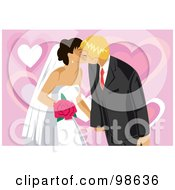 Royalty Free RF Clipart Illustration Of A Loving Wedding Couple 5 by mayawizard101