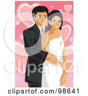 Royalty Free RF Clipart Illustration Of A Loving Wedding Couple 8 by mayawizard101