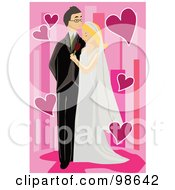 Royalty Free RF Clipart Illustration Of A Loving Wedding Couple 2