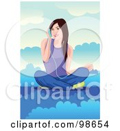 Royalty Free RF Clipart Illustration Of A Woman Listening To Music 3