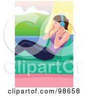 Royalty Free RF Clipart Illustration Of A Woman Listening To Music 4 by mayawizard101