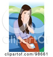 Royalty Free RF Clipart Illustration Of A Woman Listening To Music 5 by mayawizard101