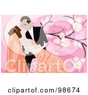 Royalty Free RF Clipart Illustration Of A Loving Wedding Couple 10 by mayawizard101