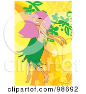 Royalty Free RF Clipart Illustration Of A Woman Listening To Music 7