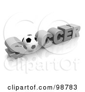3d Soccer Ball As The O In The Word Soccer