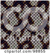 Royalty Free RF Clipart Illustration Of A Snake Skin Pattern Background