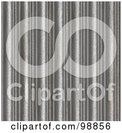 Royalty Free RF Clipart Illustration Of A Seamless Background Of Corrugated Silver