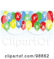 Royalty Free RF Clipart Illustration Of A Colorful Party Balloons Spelling Happy Birthday