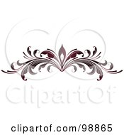 Royalty Free RF Clipart Illustration Of A Red Leafy Flourish Divider Design Element 1