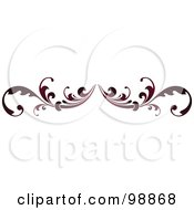 Royalty Free RF Clipart Illustration Of A Red Leafy Flourish Divider Design Element 2