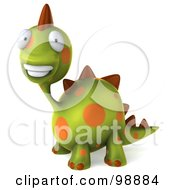 Royalty Free RF Clipart Illustration Of A 3d Spotted Dino Character Smiling