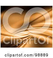 Royalty Free RF Clipart Illustration Of An Abstract Gold Wave Background
