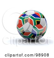 Royalty Free RF Clipart Illustration Of A 3d World Cup Soccer Ball With South Africa Flags
