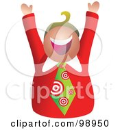 Royalty Free RF Clipart Illustration Of A Businessman Wearing A Target Tie by Prawny