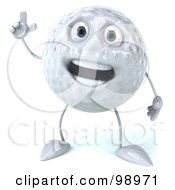 Royalty Free RF Clipart Illustration Of A 3d Golf Ball Character Gesturing And Smiling