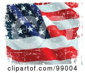 Royalty Free RF Clipart Illustration Of A Grungy And Distressed Waving American Flag