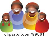 Royalty Free RF Clipart Illustration Of A Happy Black Family Smiling by Prawny