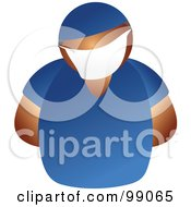 Royalty Free RF Clipart Illustration Of A Male Doctor In Blue Scrubs by Prawny