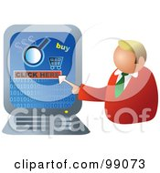 Businessman Making An Online Purchase