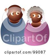 Royalty Free RF Clipart Illustration Of A Black Senior Couple