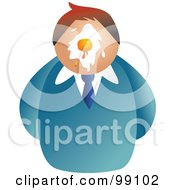 Royalty Free RF Clipart Illustration Of A Businessman With An Egg On His Face by Prawny