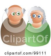 Royalty Free RF Clipart Illustration Of A Caucasian Senior Couple by Prawny