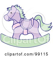 Purple And Green Childrens Nursery Rocking Horse