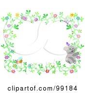 Flower Border With A Ladybug Koala And Bee