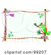 Lizard And Snake Tropical Frame