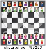 Royalty Free RF Clipart Illustration Of A Game Of Executive Chess