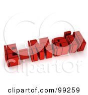 Royalty Free RF Clipart Illustration Of A 3d Red Email Word With Horizontal Lines by MacX