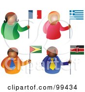 Digital Collage Of People Holding Flags 5