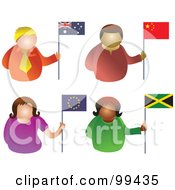 Digital Collage Of People Holding Flags 2