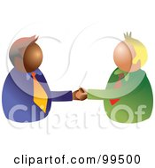 Royalty Free RF Clipart Illustration Of Two Business Partners Shaking Hands