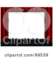 Royalty Free RF Clipart Illustration Of A Crowded Movie Cinema With The Audience Facing The Big Screen