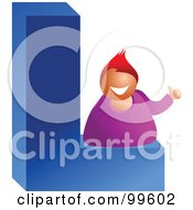 Royalty Free RF Clipart Illustration Of A Businessman With A Large Letter L